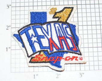 Texas #1 Snap On Tools Vintage Embroidered Clothing Patch for Mechanic Uniform Jacket Work Shirt Automotive Man Cave Garage Car Guy Emblem