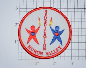 Huron Valley Rededication Sew-on Vintage Embroidered Clothing Patch Emblem Crest Collectible Memento Keepsake