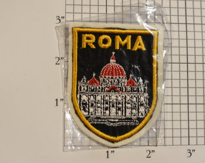 Roma Italia Rome Italy Sew-On Vintage Travel Patch Saint Peter's Basilica Cathedral Travel Trip Souvenir Collectible Woven Emblem Crest Logo