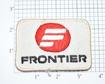Frontier Airlines (Dirty and/or Distressed) Vintage Sew-on Embroidered Clothing Patch for Uniform Shirt Jacket Vest Insignia Logo Emblem