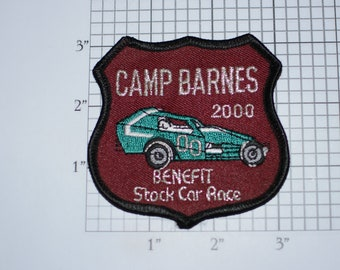 Camp Barnes 2000 Benefit Stock Car Race (Delmar, Delaware International Speedway) Iron-On Embroidered Clothing Patch Souvenir Emblem Memento