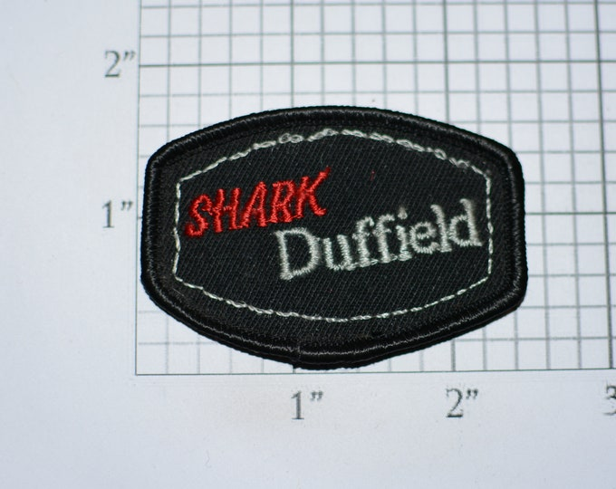 Shark Duffield Sew-on Vintage Embroidered Clothing Patch Emblem (Unknown Origin) DIY Clothes Fashion Accent Logo Crest