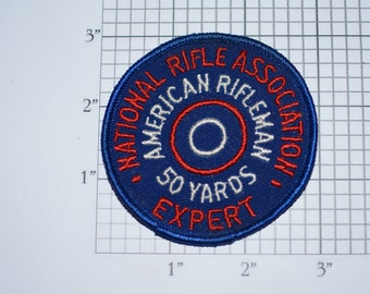 National Rifle Association Expert American Rifleman 50 Yards Award (NRA) Rare Sew-on Vintage Embroidered Clothing Patch Shooting Memorabilia