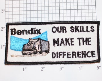 Bendix Our Skills Make the Difference Iron-On Vintage Embroidered Clothing Patch for Employee Uniform Shirt Jacket Emblem Logo Workshirt