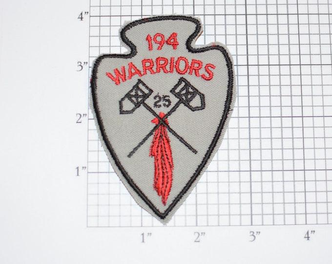 194 Warrior Iron-on Arrowhead Emblem Badge Logo Vintage Embroidered Clothing Patch for Uniform Jacket Shirt Vest Collectible Keepsake
