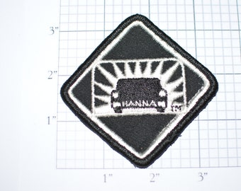Hanna Car Wash - Rare Sew-on Vintage Embroidered Clothing Patch - Silver Thread on Black Jacket Patch Hat Patch Shirt Patch Applique e14e