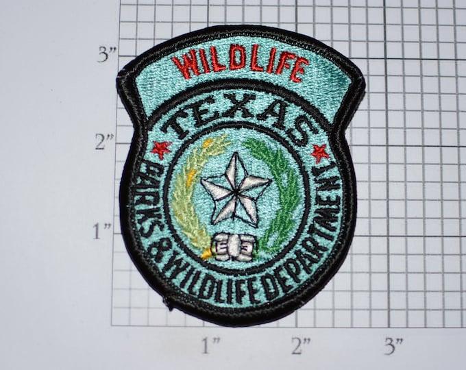 Texas Parks & Wildlife Department Vintage Embroidered Clothing Patch for Game Warden Officer Uniform Shoulder Emblem Conservation Hunting