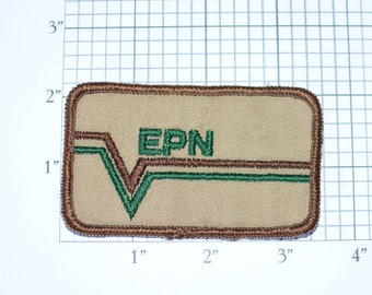 EPN (Banvel) Vintage Embroidered Sew-on Clothing Patch for Uniform Jacket Work Shirt Vest Company Emblem Logo Insignia Crops Agriculture