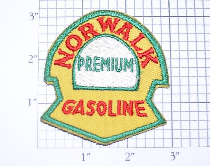 Norwalk Premium Gasoline Vintage Embroidered Sew-on Patch for Uniform Jacket Work Shirt Automotive Man Cave Garage Car Guy Service Station