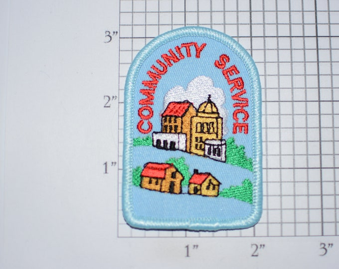 Community Service Embroidered Iron-on Clothing Patch for Jacket Shirt Vest Backpack Jeans Collectible Souvenir Emblem Volunteer