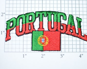 Portugal Iron-On Vintage Embroidered Travel Patch Emblem Badge Flag Tourist Trip Souvenir Gift Idea Collectible Vacation Holiday e25L