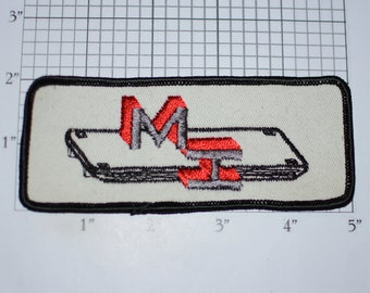 MI Embroidered Sew-on Clothing Patch (Slightly Dingy) for Uniform Jacket Employee Name Work Shirt Logo Employee Contractor Construction