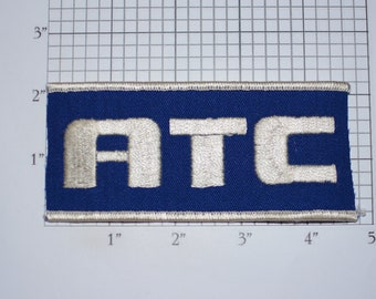 ATC Iron-on Vintage Embroidered Clothing Patch for Biker Jacket Vest MC Hat Shirt Backpack DIY Craft Sewing Project Emblem