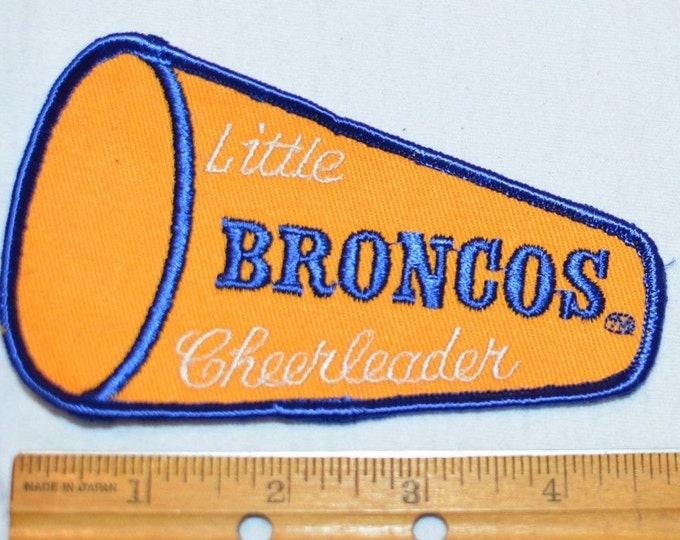 Denver Broncos Little Cheerleader NFL Football Sew-On Vintage Clothing Patch for Jacket Shirt Jersey Newborn Baby Kids Infant Toddler s19