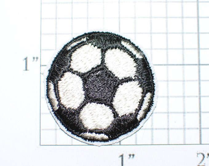 Soccer Ball, Small Iron-on Applique Embroidered Clothing Patch Sports Jacket Patch Vest Patch Jersey Patch Shirt Patch Hat Patch Team League
