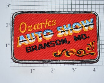 Ozarks Auto Show Branson Mo (Missouri) RARE Mint Condition Iron-On Vintage Embroidered Clothing Patch Car Event Souvenir Collectible Emblem