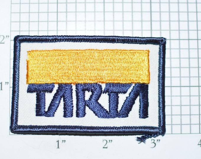 TARTA (Toledo Area Regional Transit Authority) Ohio Iron-on Vintage Embroidered Clothing Patch Public Transportation Bus Collectible Emblem