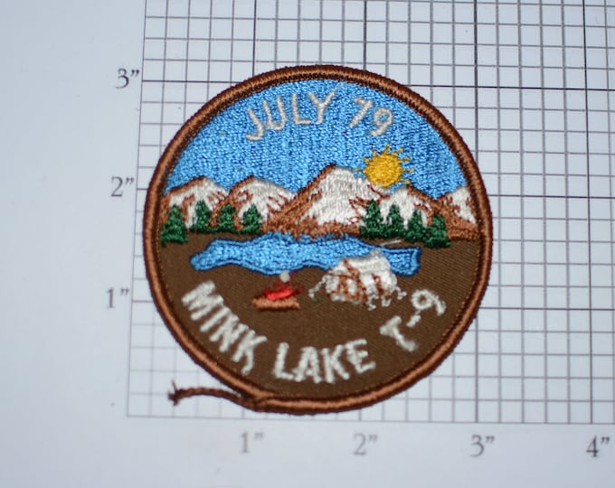 Mink Lake July 79 (1979) Sew-On Vintage Embroidered Clothing Patch Badge Insignia Logo Cub Boy Scout Collectible Memento Keepsake BSA