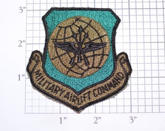 USAF Military Airlift Command MINT Sew-On Vintage Embroidered Patch Military Militaria Gift Collectible Scott Air Force Base AFB Illinois