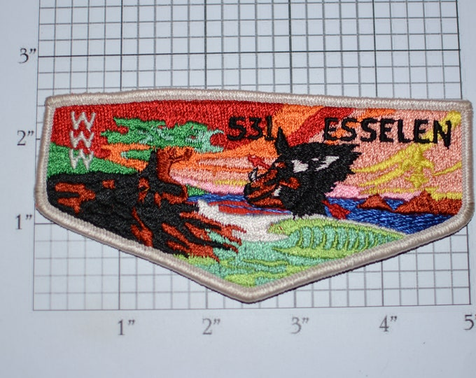 Esselen Lodge 531 WWW (Order of the Arrow) Sew-On Vintage Embroidered Clothing Pocket Patch Boy Scout Uniform BSA Badge Keepsake Collectible