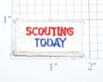 Scouting Today Small Vintage Embroidered Sew-on Clothing Applique Patch Tab Cub Boy Scouts BSA Uniform Shirt Vest Hat Sewing Emblem e28p