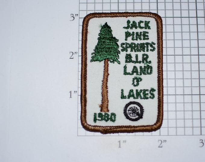 Jack Pine Springs B.I.R. (Brainerd International Raceway) Land O' Lakes 1980 Sew-On Vintage Embroidered Patch Racing Event Souvenir Emblem