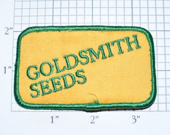 Goldsmith Seeds Embroidered Iron-on Clothing Patch Souvenir Collectible Memorabilia Logo Uniform Workshirt Emblem Plants Agriculture e33g
