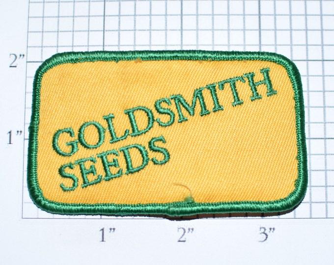 Goldsmith Seeds Embroidered Iron-on Clothing Patch Souvenir Collectible Memorabilia Logo Uniform Workshirt Emblem Plants Agriculture e33g