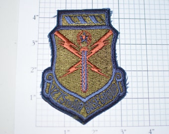 USAF 7275th Air Base Group - San Vito de Normanni AS Italy - Sew-On Vintage Patch - Subdued -  s20