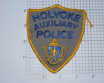 Holyoke Auxiliary Police Obsolete Sew-on Embroidered Vintage Clothing Patch Uniform Costume Shoulder Collectible Keepsake Emblem Insignia
