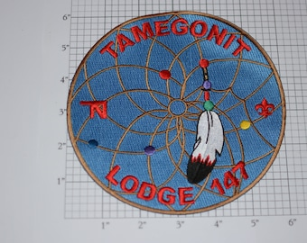 Large Tamegonit Lodge 147 (Heart of America Council, Kansas City Missouri) Scouting BSA Embroidered Clothing Patch (2006 We Believe) Emblem