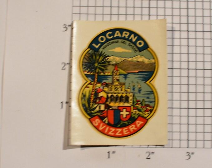 Svizzera (Switzerland) Locarno Madonna Del Sasso Vintage Sticker Decal Trip Travel Souvenir Traveler Scrapbook Keepsake Memento Tourist Gift