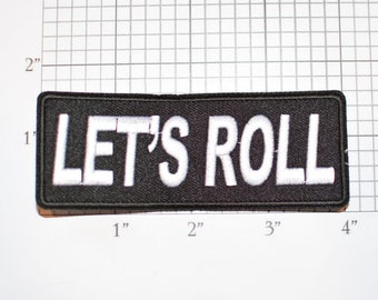 Let's Roll Iron-On (or Sew-On) Embroidered Clothing Patch for Bike Biker Jacket Vest Motorcycle Rider MC Bicycle Cyclist Cycling Event Rally
