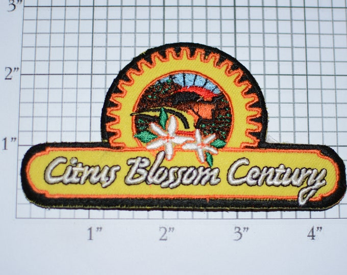 Citrus Blossom Century (Ventura County California) Iron-on Embroidered Clothing Patch Cycling Keepsake Collectible Bike Rider Memento Badge