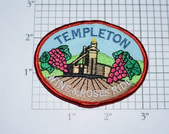 Templeton Wine & Roses Ride (California) Iron-on Embroidered Clothing Patch Cycling Keepsake Scrapbook Collectible Bike Rider Memento Badge