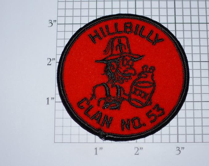 Hillbilly Clan No 53 Iron-On Vintage Embroidered Clothing Patch Pennsylvania Shriner Masonic Freemason Freemasonry Children's Hospitals