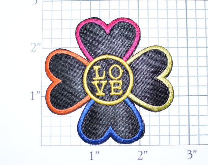 LOVE Flower Made of Hearts Very Unique Vintage Clothing Iron-on Patch Embroidered Patch Cute Gift for Girl Jacket Patch Backpack Patch e19v