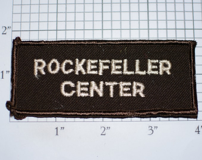 Rockefeller Center Iron-on Embroidered Clothing Patch for Employee Worker Uniform Shirt Logo Text Emblem New York City NYC Business Building