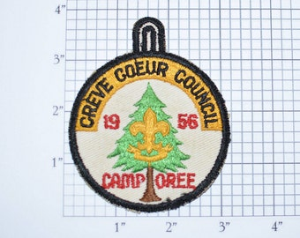 1956 Creve Coeur Council Camporee Pocket Patch Boy Scouts BSA Patch Scouting Vintage Sew-On Embroidered Uniform Vest Patch Collectible e20q