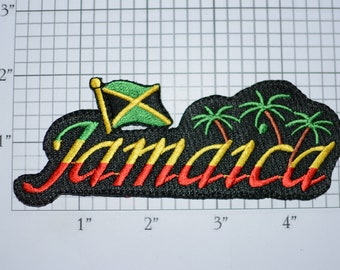 JAMAICA Iron-on Embroidered Clothing Patch Flag Beautiful Travel Trip Tourist Souvenir Memento Keepsake for Clothes Scrapbook Memorybox Logo