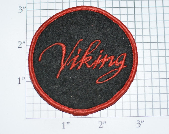 VIKING Vintage Sew-on Embroidered Clothing Patch Jacket Patch Jeans Patch Backpack Patch Hat Patch Applique Norse Norseman Norwegian e33b