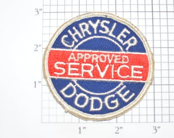 Chrysler Plymouth Approved Service Vintage Sew-on Embroidered Patch Dealership Jacket Uniform Shirt Automotive Car Mechanic Garage Logo