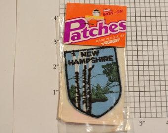 New Hampshire (Voyager Badge Sealed Pkg) Vintage Iron-on Travel Patch Souvenir Gift Idea Trip Scrapbook Memory Box Tourist Keepsake Emblem