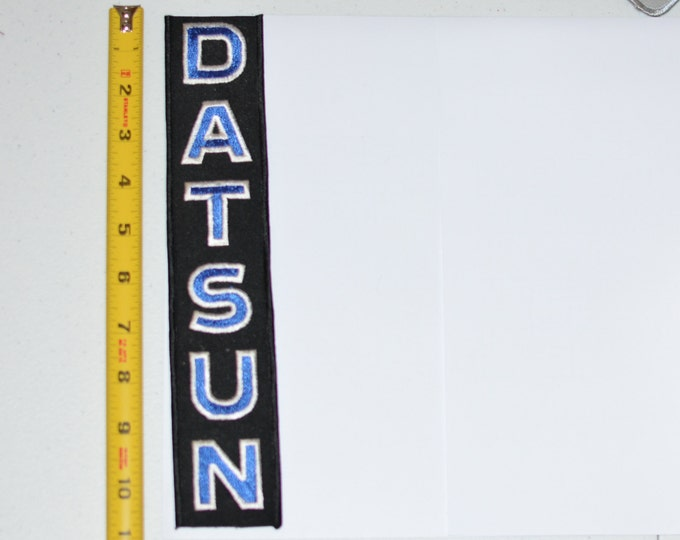 DATSUN RARE Iron-On Authentic Vintage Embroidered Clothing Patch for Jacket Shirt Sleeve Automobile Racing Memorabilia Mechanic Garage Shop