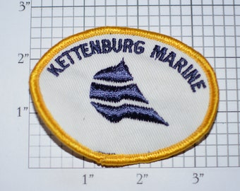 Kettenburg Marine RARE Sew-On Vintage Embroidered Clothing Patch San Diego California CA Boating Boat Sailing Collectible Memorabilia