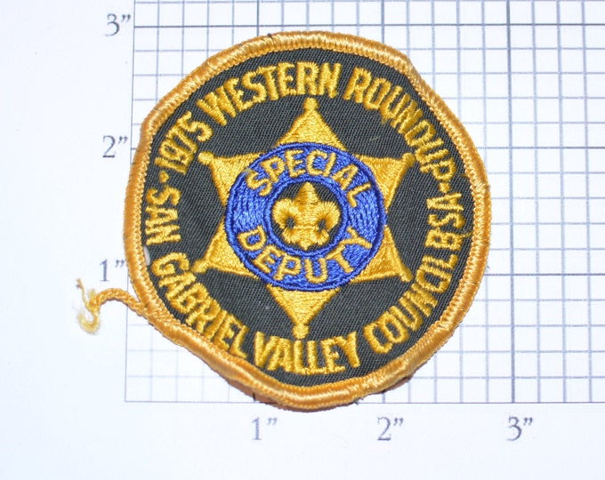 1975 Western Roundup SGVC (San Gabriel Valley Council) California Scouting USA Vintage Sew-on Patch Boy Scouts Bsa Scouting Memorabilia