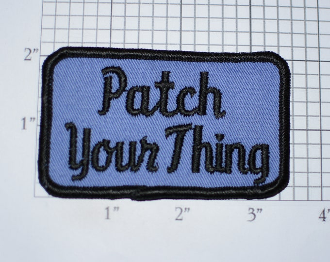 Patch Your Thing Sew-On Vintage Embroidered Clothing Patch for Jacket Jeans Vest Hat Backpack DIY Fashion Accent Embellishment Text Emblem