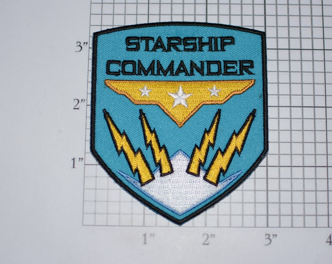 Starship Commander Embroidered Iron-on Clothing Patch Collectible Emblem Logo Souvenir Astronaut Aerospace Costume Cosplay Kids Gift Idea