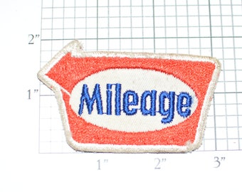 MILEAGE Sew-On Authentic Vintage Clothing Embroidered Patch Automotive Uniform Shop Mechanic Logo Insignia