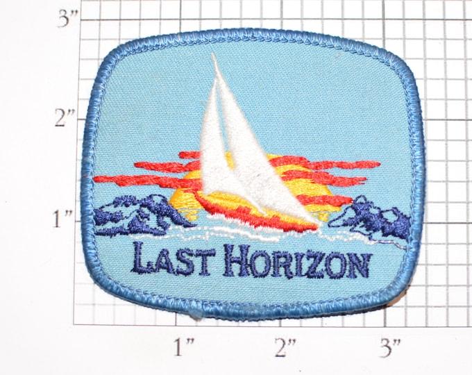 Last Horizon Sailboat Yacht Sailing Iron-on Embroidered Clothing Patch for Jacket Vest Shirt Uniform Hat Clothes Boat Captain Seaman Emblem